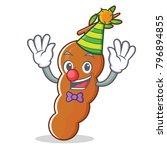 clown tamarind mascot cartoon... | Shutterstock .eps vector #796894855