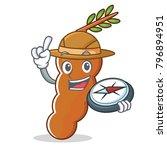 explorer tamarind mascot...   Shutterstock .eps vector #796894951