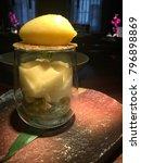 dessert  granita  sorbet  green ... | Shutterstock . vector #796898869