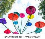umbrella craft festival in... | Shutterstock . vector #796899604