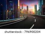 highway overpass with modern... | Shutterstock . vector #796900204