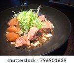 stewed pork ribs  fine dining ... | Shutterstock . vector #796901629