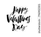 happy valentines day card with... | Shutterstock .eps vector #796902301