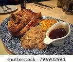 roast pork knuckle  fine dining ...   Shutterstock . vector #796902961
