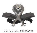 evil monster werewolf | Shutterstock .eps vector #796906891