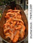 prawn  tiger prawr  seafood... | Shutterstock . vector #796911289