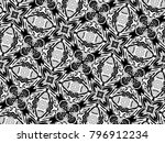 ornament with elements of black ... | Shutterstock . vector #796912234