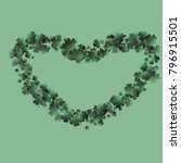 four leaf cover is a confetti... | Shutterstock .eps vector #796915501