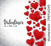 valentine card with light... | Shutterstock .eps vector #796916245