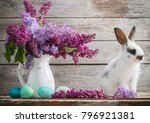 Easter Bunny With Lilac On...