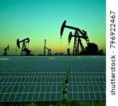 clean power energy concept oil... | Shutterstock . vector #796922467