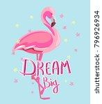 hand drawn flamingo vector...   Shutterstock .eps vector #796926934