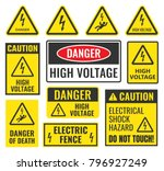 high voltage sign | Shutterstock .eps vector #796927249