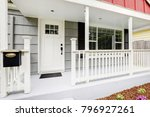 welcoming front porch features... | Shutterstock . vector #796927261
