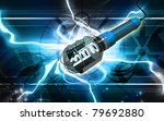 digital illustration of  a wire ... | Shutterstock . vector #79692880