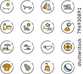 line vector icon set   lounger... | Shutterstock .eps vector #796930891