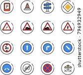 line vector icon set   parking... | Shutterstock .eps vector #796932949