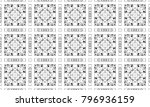 black and white textured... | Shutterstock . vector #796936159