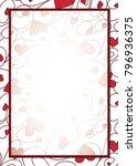 swirly heart border in vector... | Shutterstock .eps vector #796936375