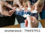 hands of business people... | Shutterstock . vector #796937911