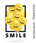 smile yellow balloons background | Shutterstock .eps vector #796942231