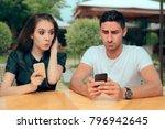 curious girlfriend checking... | Shutterstock . vector #796942645