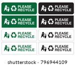 Please Recycle Sign Stickers...