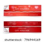 bright red gift voucher...