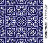 italian tile pattern vector...   Shutterstock .eps vector #796944859