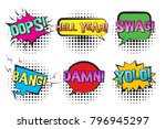 bright contrast retro comic... | Shutterstock .eps vector #796945297