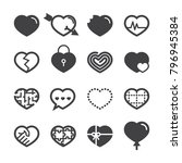 heart icons 2018 | Shutterstock .eps vector #796945384