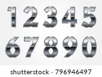 set of metal numbers.vector... | Shutterstock .eps vector #796946497