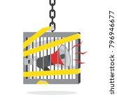 megaphone locked inside prison... | Shutterstock .eps vector #796946677