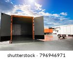 door of truck openers waiting... | Shutterstock . vector #796946971