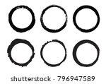 set of grunge circles.vector... | Shutterstock .eps vector #796947589