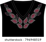rhinestone applique for t shirt ... | Shutterstock .eps vector #796948519