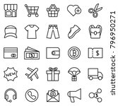 line icon set for clothing e...