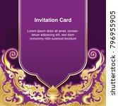 invitation template  background ... | Shutterstock .eps vector #796955905