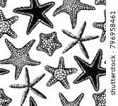 sea stars seamless vector print.... | Shutterstock .eps vector #796958461