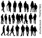 isolated silhouette people go  ... | Shutterstock . vector #796967881
