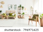 spacious flat interior with... | Shutterstock . vector #796971625