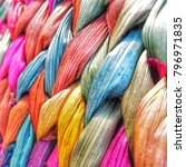 Colorful Cane Wicker Backgroun...