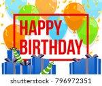 happy birthday vector...   Shutterstock .eps vector #796972351