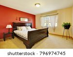 chic master suite with red... | Shutterstock . vector #796974745