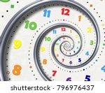 abstract modern white rainbow... | Shutterstock . vector #796976437