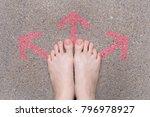 pink arrow choice concept.... | Shutterstock . vector #796978927