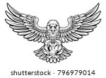 an eagle angry animal sports...   Shutterstock .eps vector #796979014