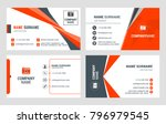 set of 4 business card... | Shutterstock .eps vector #796979545