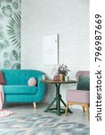 fancy interior of a living room ... | Shutterstock . vector #796987669