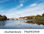 talsi city in autumn time ... | Shutterstock . vector #796992949